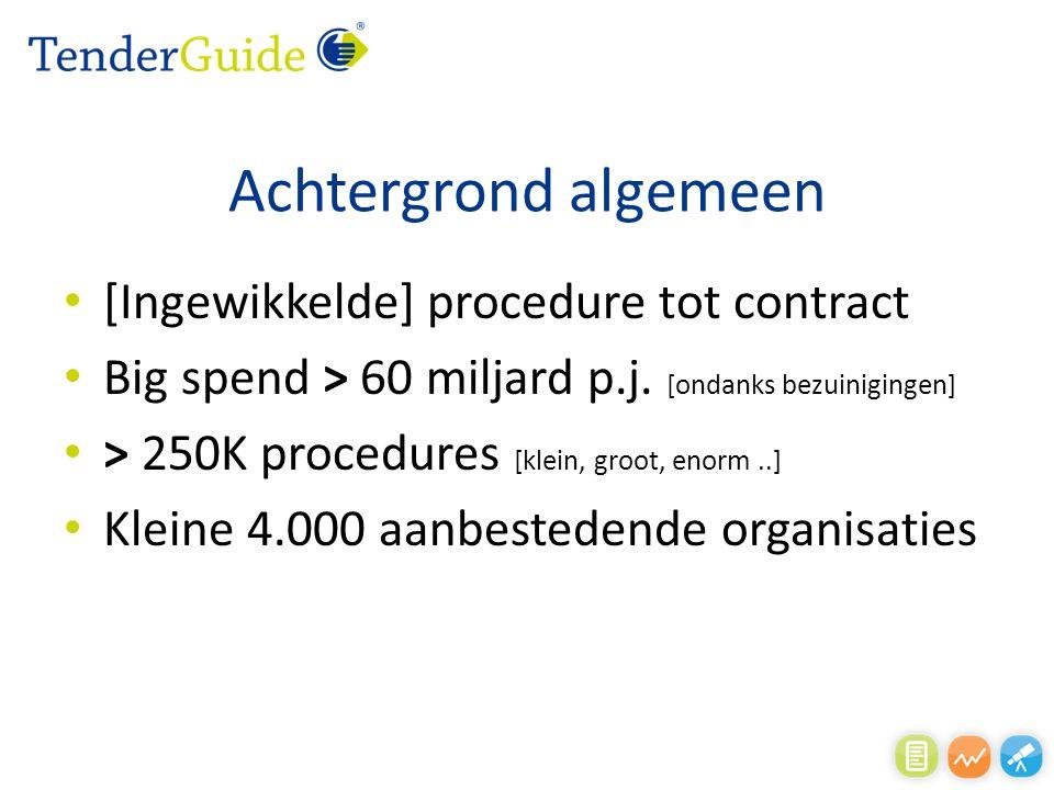 Achtergrond algemeen [Ingewikkelde] procedure tot contract